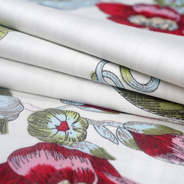 Tranquil Floral Cotton Bedding Set