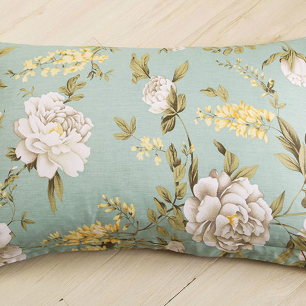 Trendy Pale Turquoise and Brown Cotton Bedding Set 3