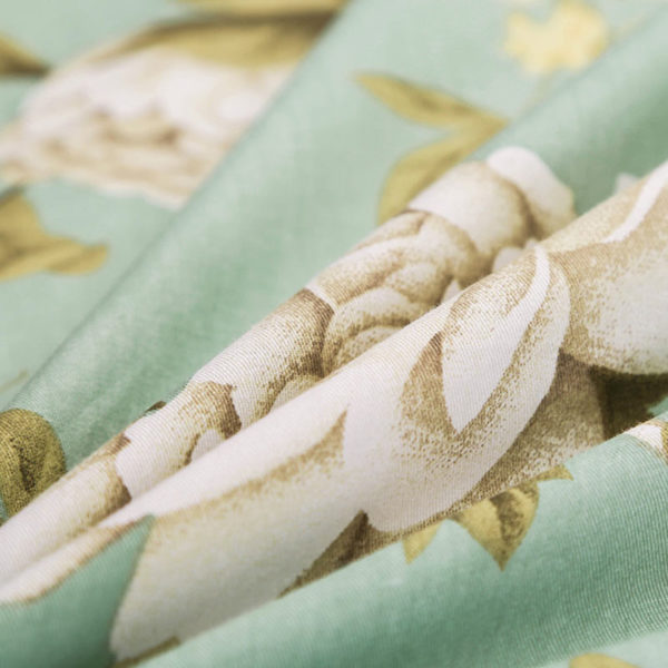 Trendy Pale Turquoise and Brown Cotton Bedding Set 5