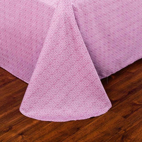 Trendy Pink And White Cotton Bedding Set 2