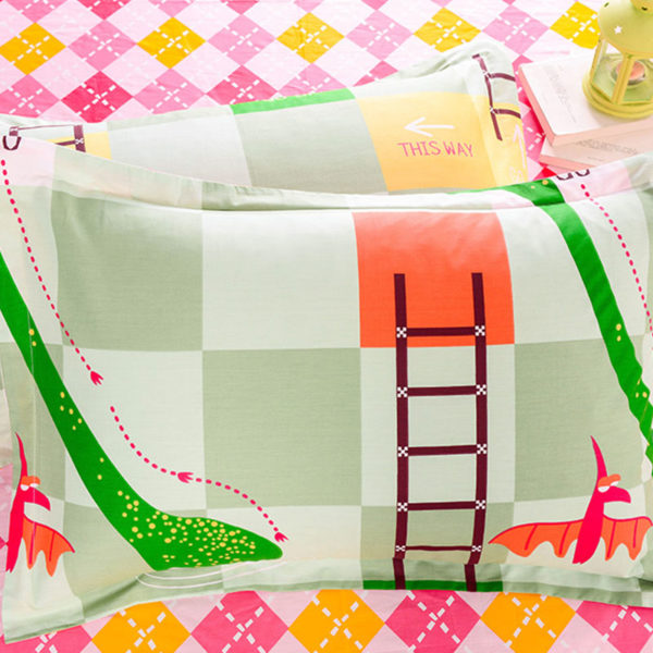 Trendy Snacks and Ladders Themed Cotton Bedding Set 1 600x600 - Trendy Snacks and Ladders Themed Cotton Bedding Set