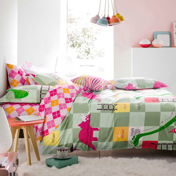 Trendy Snacks and Ladders Themed Cotton Bedding Set 3 600x600 - Trendy Snacks and Ladders Themed Cotton Bedding Set