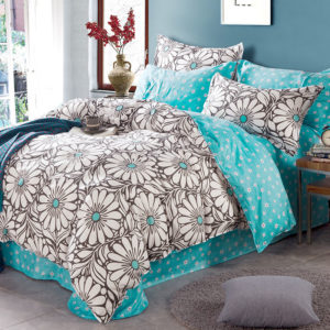Trendy Turquoise And Black Cotton Bedding Set 1 300x300 - Trendy Turquoise And Black Cotton  Bedding Set