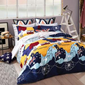Trendy USA Themed Cotton Bedding Set