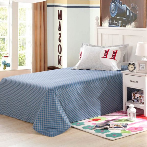 Ultra cool White and Blue Cotton Bedding Set 3