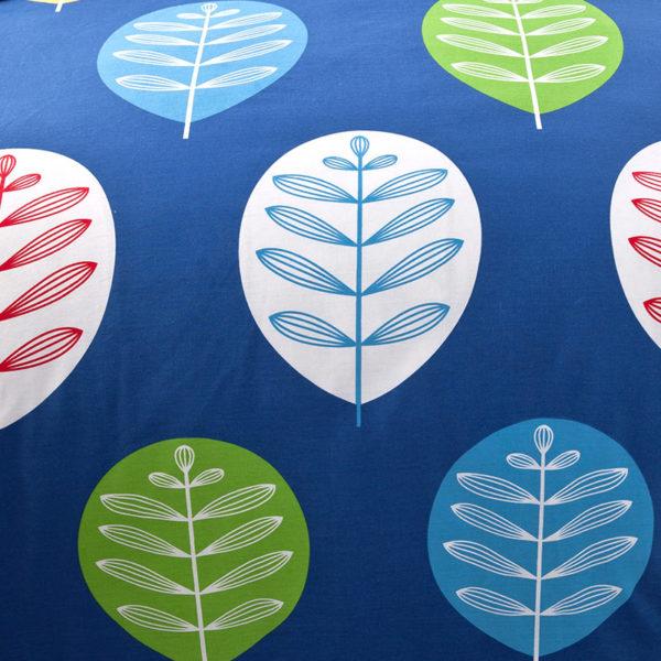 Vibrant Blue Leaf Print Cotton Bedding Set 3 600x600 - Vibrant Blue Leaf Print Cotton  Bedding Set