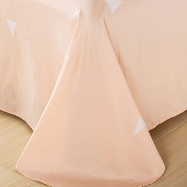 Vibrant Pinkish Grey and White Cotton Bedding Set