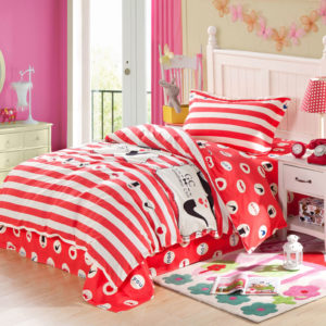 Vibrant Red and Black ILU Cotton Bedding set 1 300x300 - Vibrant Red and Black ILU Cotton Bedding set