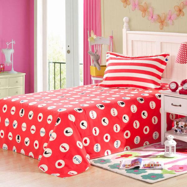 Vibrant Red and Black ILU Cotton Bedding set 2 600x600 - Vibrant Red and Black ILU Cotton Bedding set