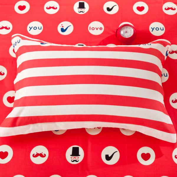 Vibrant Red and Black ILU Cotton Bedding set 4 600x600 - Vibrant Red and Black ILU Cotton Bedding set