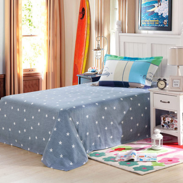 Vibrant and trendy Light Blue Cotton Bedding Set 3 600x600 - Vibrant and trendy Light Blue Cotton Bedding Set