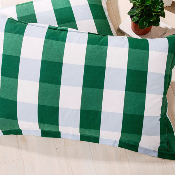 classic Green and White Cotton Bedding Set 4