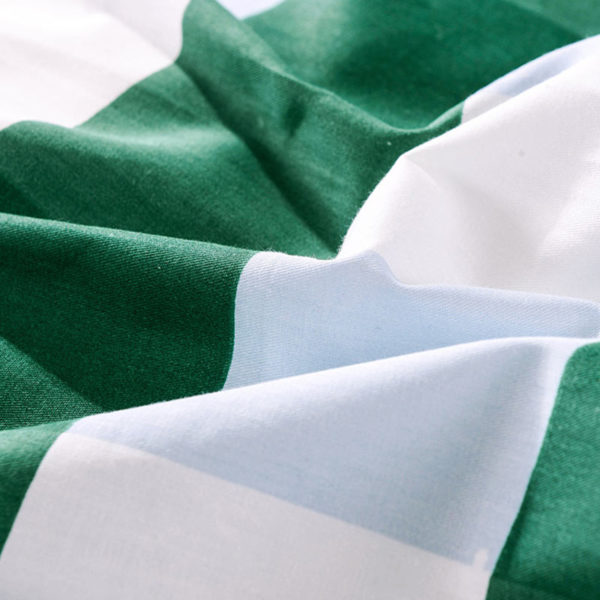 classic Green and White Cotton Bedding Set 5