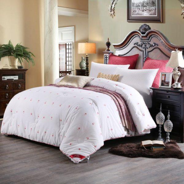 0K4C2988 compressed 600x600 - Glamorous White Luxury Sanding Wedding Comforter