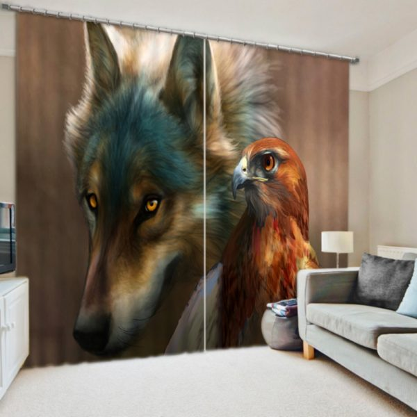 Realistic Animal Picture Curtain Set
