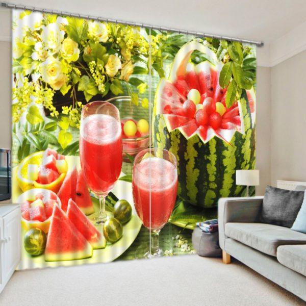 Delightful Watermelon Curtain Set