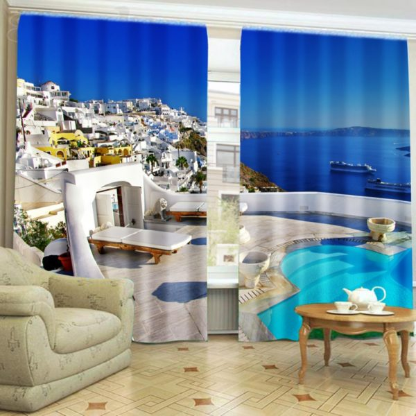 101amazon zpsnjd8hadb 600x600 - Scenic Ocean Curtain Set In Blue And Green