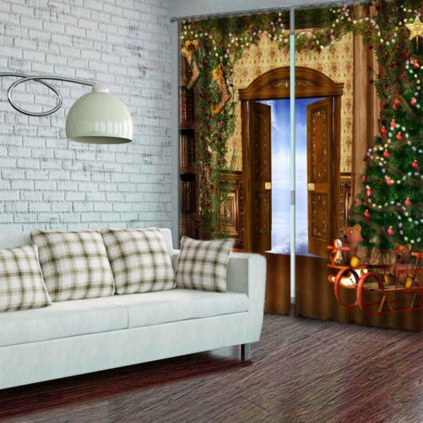Amazing Christmas Curtain Set