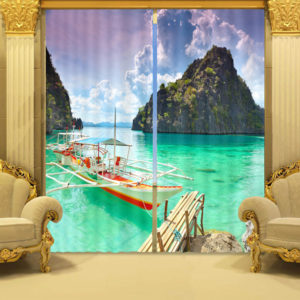 103 zps0anzhbab 300x300 - Bright Ocean Curtain Set With Boat And Bridge