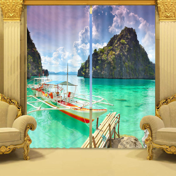 103 zps0anzhbab 600x600 - Bright Ocean Curtain Set With Boat And Bridge