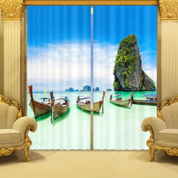 105 zpsbgwz1tzd 600x600 - Trendy Ocean Curtain Set In Blue And Green