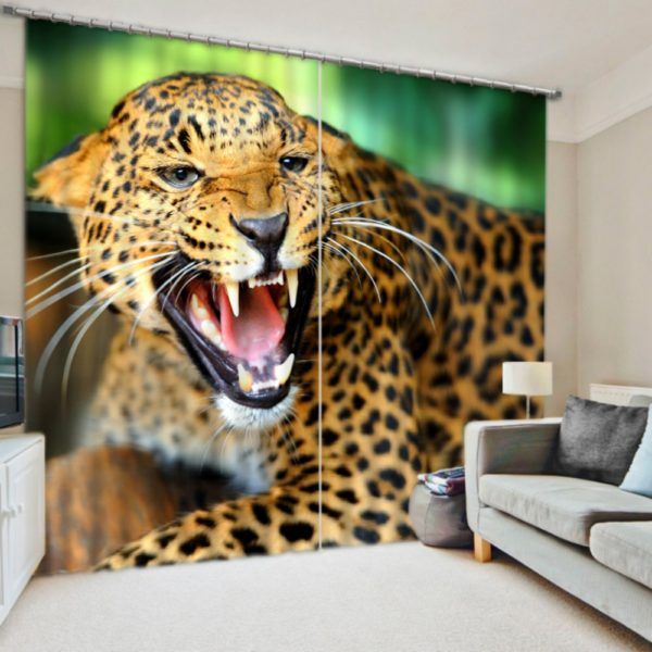 Amazing Jaguar Curtain Set Ebeddingsets