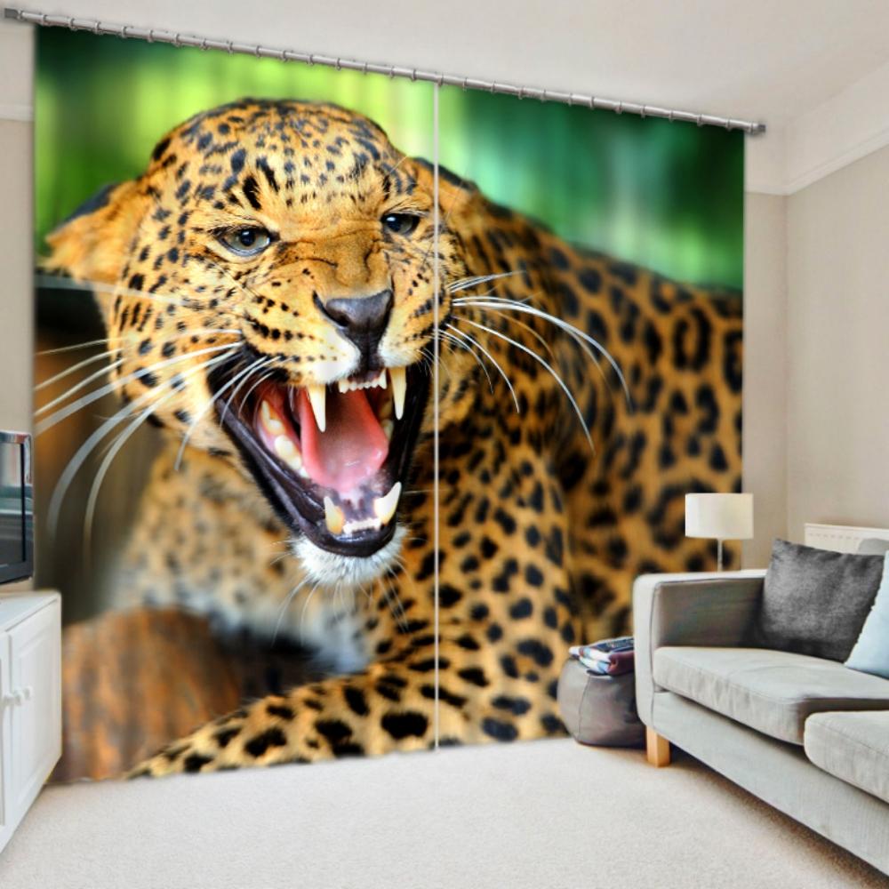 Amazing Jaguar Curtain Set Ebeddingsets