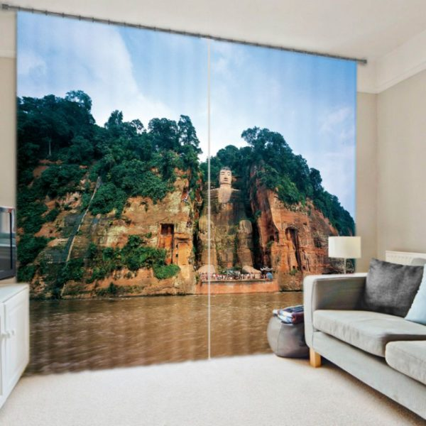 Enchanted Fort Picture Curtain Set