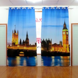 109amazon zpsayfaq7sj 300x300 - Orange And Blue City Themed Curtain Set