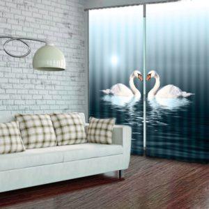 Captivating Swan Curtain Set