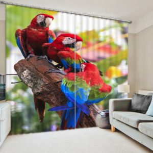 Lovely Parrots Curtain Set