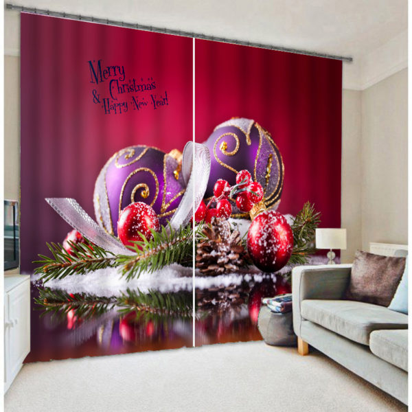 Awesome Christmas Themed Curtain Set