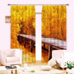 Lovely Autumn Themed Curtain Set