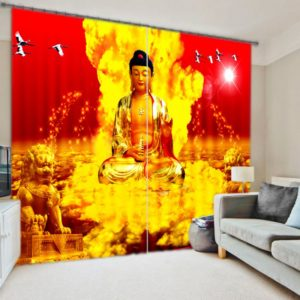 Inspiring Gautama Buddha Curtain Set