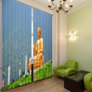 Blessing Buddha Curtain Set
