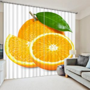 Contemporary Orange Curtain Set