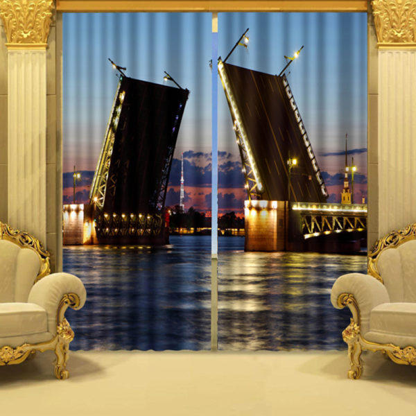 Elegant Curtain Set With Lovely Riverfront