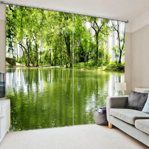 Elegant Nature Themed Curtain Set
