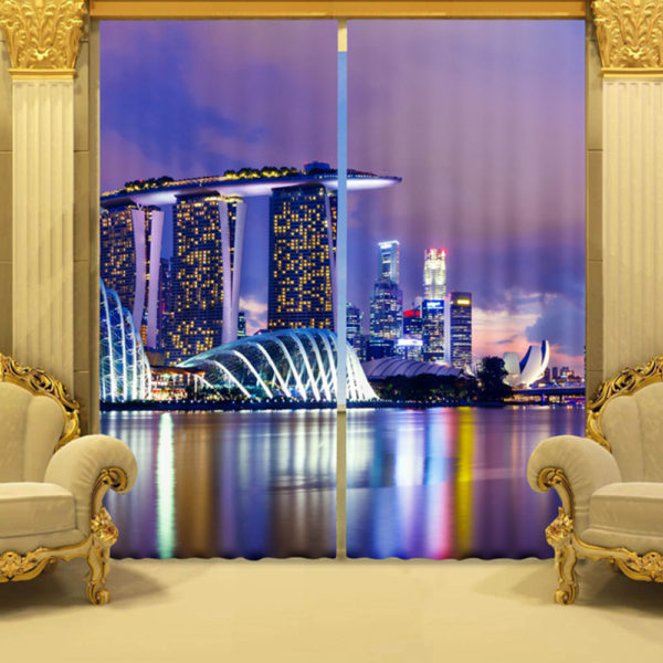 Amazing City Themed Picture Curtain Set