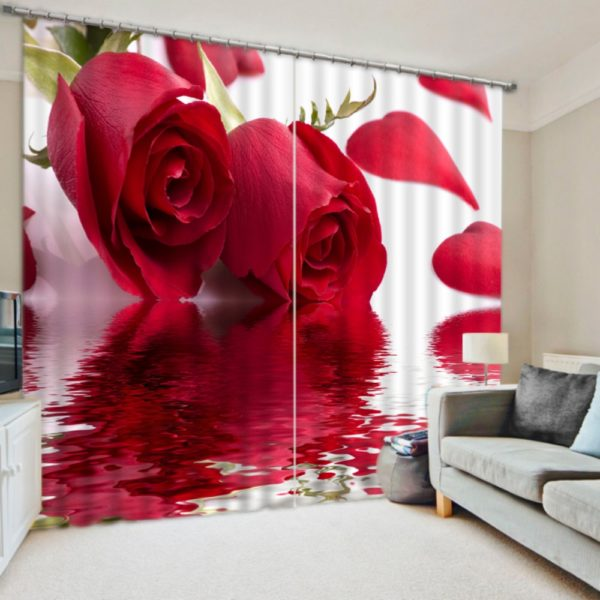 Curtain Set In Red