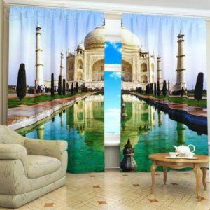 117amazon zpse6ocxzrq 300x300 - Taj Mahal Picture Printed Curtain Set