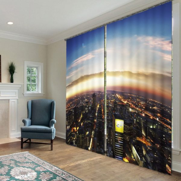 118amazon zpsxbhswlkk 600x600 - City Night Life Curtain Set