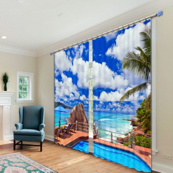 Magnificent Beach Curtain Set