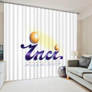 inci selskabslokale Logo Print Curtain Set