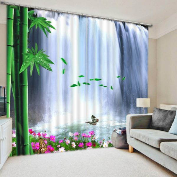 Exquisite Waterfall Picture Curtain set