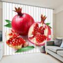 Curtain Set With Pomegranate Motif