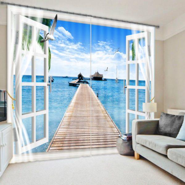 Breathtaking Beach Curtain Set