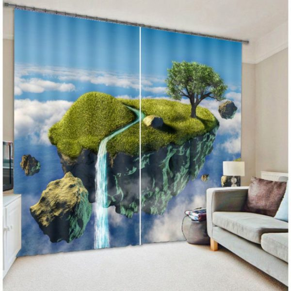 Luxurious Lush Green Nature Curtain Set