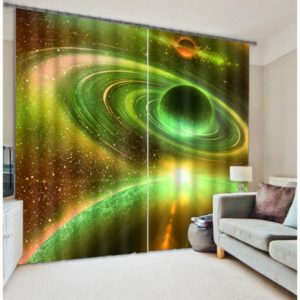 Majestic Universe And Saturn Curtain Set