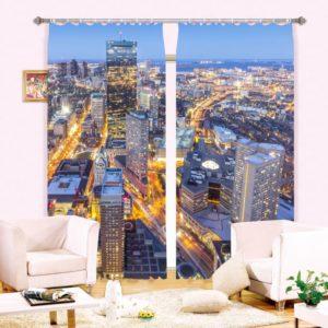 Magnificent City Picture Curtain Set